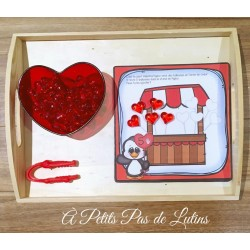 le stand de balloune (saint-valentin)