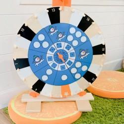 jeu de la roue bonhomme de neige
