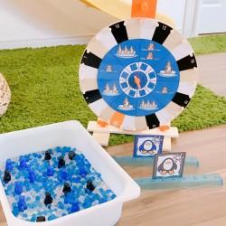 le jeu de la roue pingouins sur la banquise.
