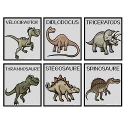 Dinosaures   Mots-étiquettes