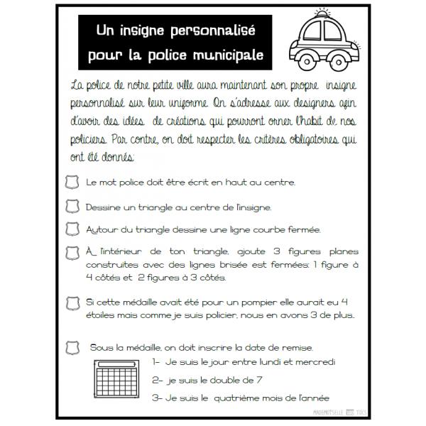 RÉSOLUTION - Insigne de police personnalisé