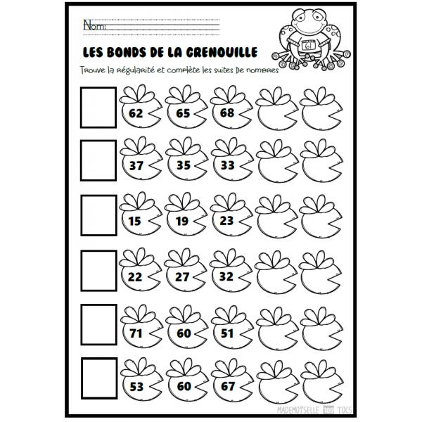 Régularité - Sauts de grenouille