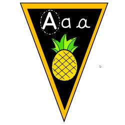 Fanion Alphabet - Abécédaire