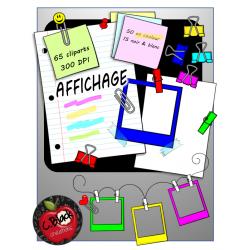AFFICHAGE - Ensemble de 65 cliparts