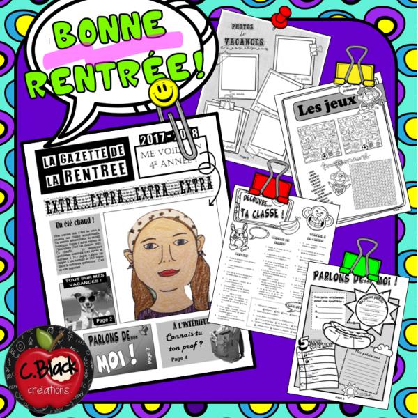"""La """"Gazette de la rentrée"""""""