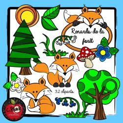 Renards de la forêt (32 cliparts)
