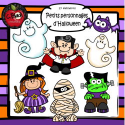 Petits personnages d'Halloween (25 cliparts)