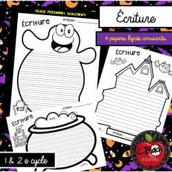 Écriture d'Halloween (papier amusant)