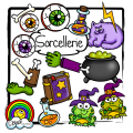 Halloween : Sorcellerie (40 cliparts)