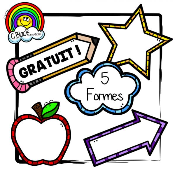 5 formes (cliparts gratuits)
