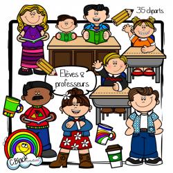Élèves et professeurs (cliparts)