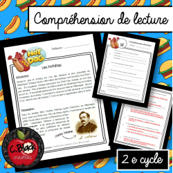 Compréhension de lecture 2e cycle (Les hot dogs)