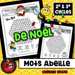 """Mots cachés """"abeille' (Noel)"""