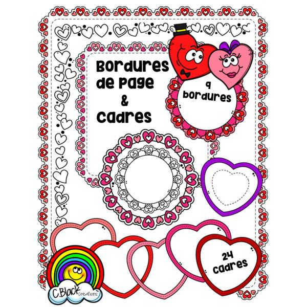 St-Valentin (bordures et cadres)