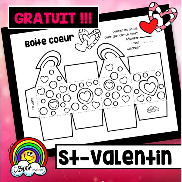 St-Valentin (boîte coeur)