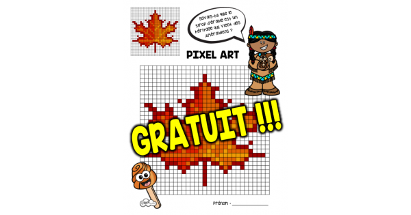 Pixel Art Feuille Dérable