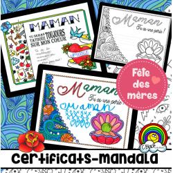 Fête des mères (certificats-mandala)