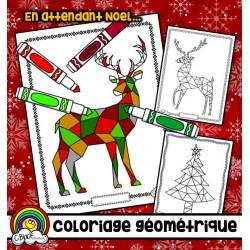 Coloriage géométrique de Noel