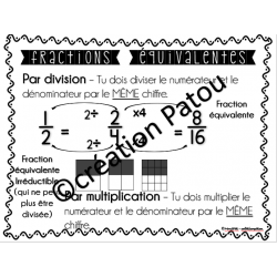 Affiches opérations avec des fractions