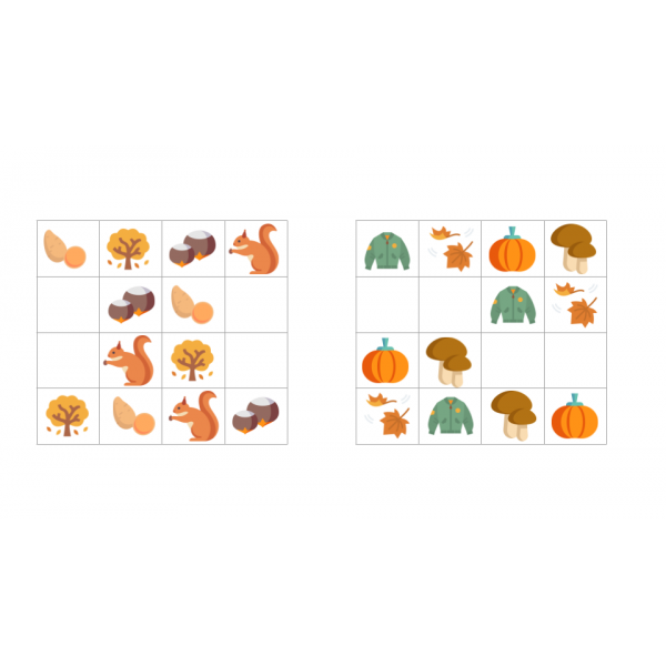 Sudokus automne et Halloween