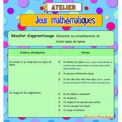 Géométrie, Atelier Jeux mathématiques, lignes