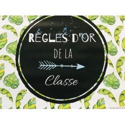 Tropical- affiches règles de classe