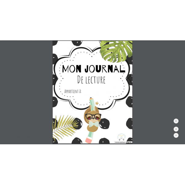 Journal de lecture 2e-3e cycle