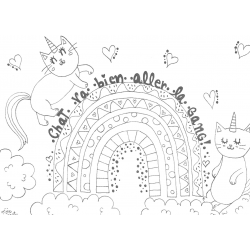 coloriage- Chat va aller!