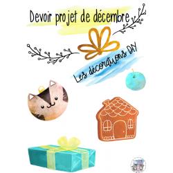 devoir projet décoration Noël