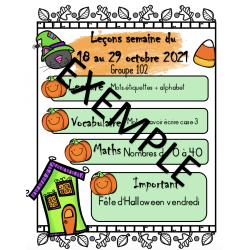 Canevas plan de leçon - Halloween