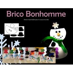 Marionnette Bonhomme de neige