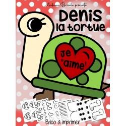 Denis la tortue (carte St-Valentin)