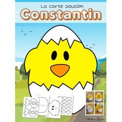 La carte poussin de Constantin (Brico à imprimer!)