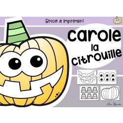 Carole la citrouille (Brico à imprimer)