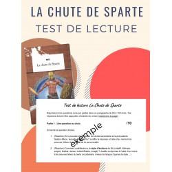 La chute de Sparte - test de lecture + exercices