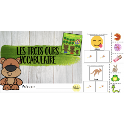 Les trois ours - carnet de vocabulaire