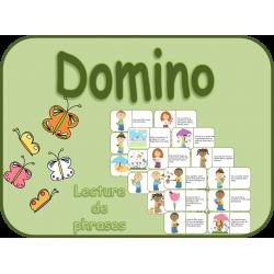 Domino, lecture, printemps