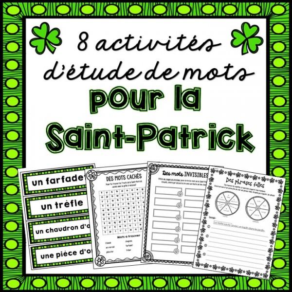 Étude de mots - La Saint-Patrick
