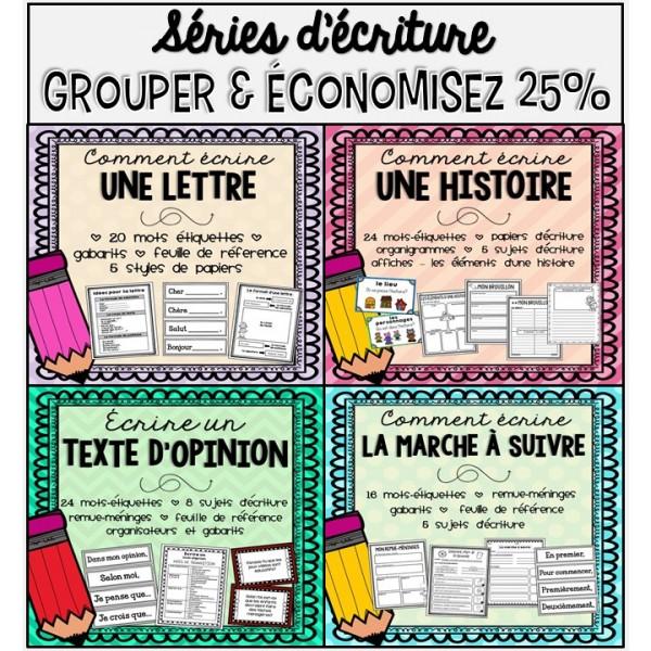 Séries d'écriture - économisez 25%