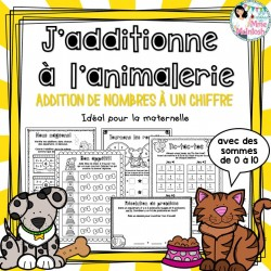 "Addition ""À l'animalerie"" - Maternelle"