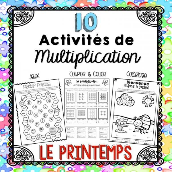 Activités de multiplication - Le printemps