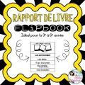 Mon rapport de livre - Flipbook - 3e à  6e