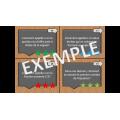 Cartes à tâche: Le langage mathématique