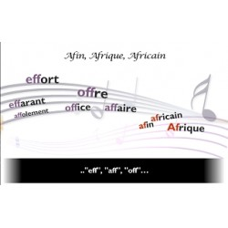 "Orthochanson ""Afin, Afrique, africain"""