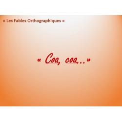 """Fable Orthographique """"Coa, coa"""""""