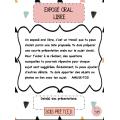 Exposé oral libre (choix amusants)