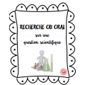 Recherche et/ou oral en science