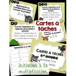 Cartes à tâches (initiation à la multiplication)
