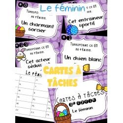 Cartes à tâches - le féminin
