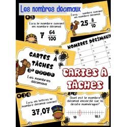 Cartes à tâches (nombres décimaux)